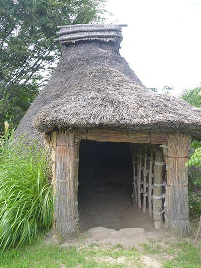 縄文式住居の入り口。立派なもんです。