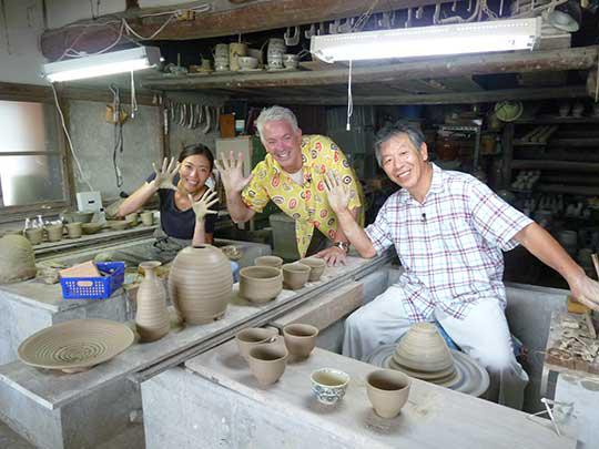 娘さんも父からの直伝で唐三郎の窯を一緒に守っています!