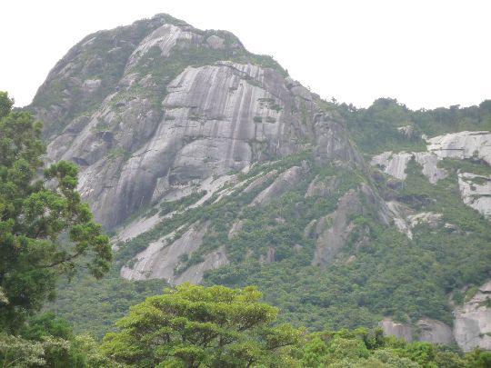 屋久島はあちこちに岩がむき出しに出ている