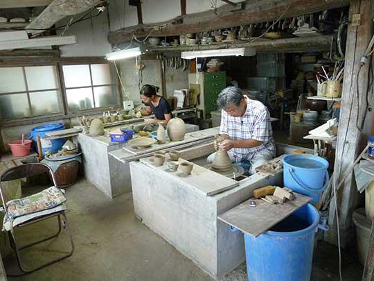 ここが唐三郎さんが次々に作品を生み出す工房